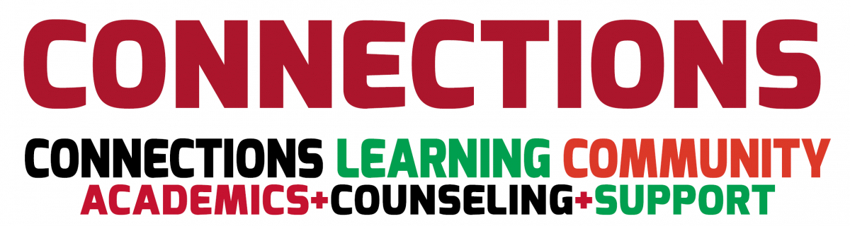 CONNECTIONS LEARNING COMMUNITY ACADEMICS+COUNSELING+SUPPORT
